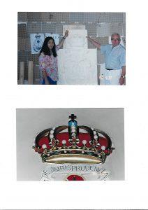 Corona fabricada en escayola por nuestro escultor favorito Juan de la Mata
